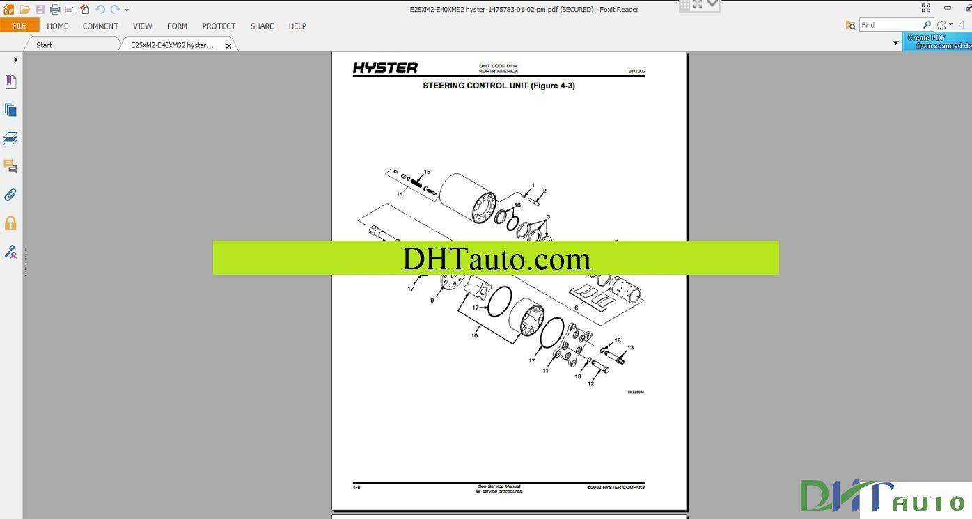 Hyster N25xmdr3 N30 40xmr3 Forklift Service Repair Manual