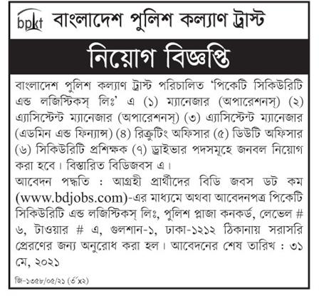 Bangladesh Police Kallyan Trust jobs 2021
