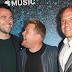 Ben Winston, James Corden e Eric Pankowski na festa de lançamento da Apple Music para o próximo programa de James Corden, Carpool Karaoke: The Series no Chateau Marmont, em Los Angeles - 07/08/2017