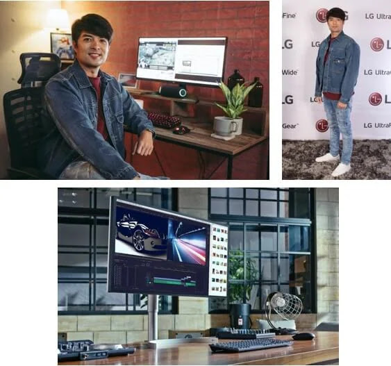 Actor and director Joross Gamboa for LG UltraWide™ monitor