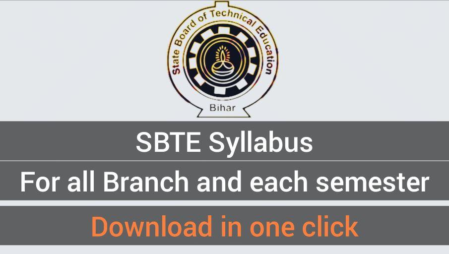 SBTE Syllabus for all Semester