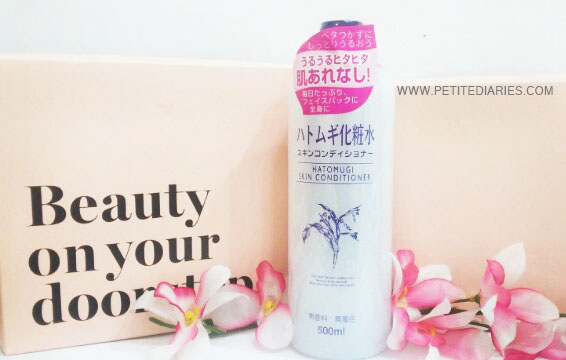 hatomugi skin conditioner sociolla unboxing review
