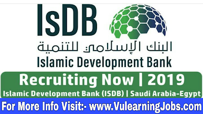 Islamic Development Bank Careers & Jobs 2019 In Middle East