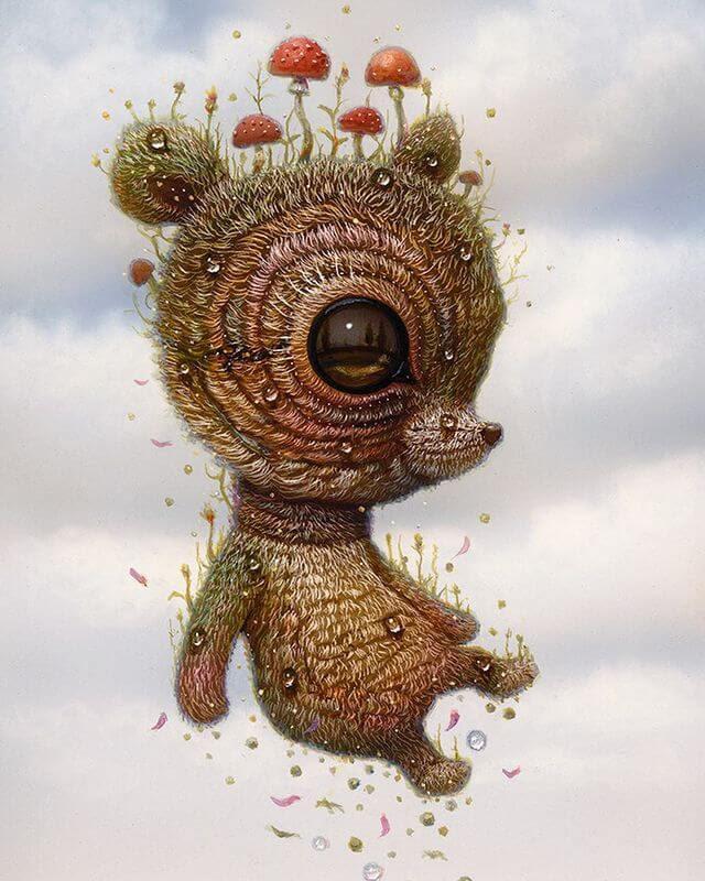 01-Flying-creature-Surreal-Creature-www-designstack-co