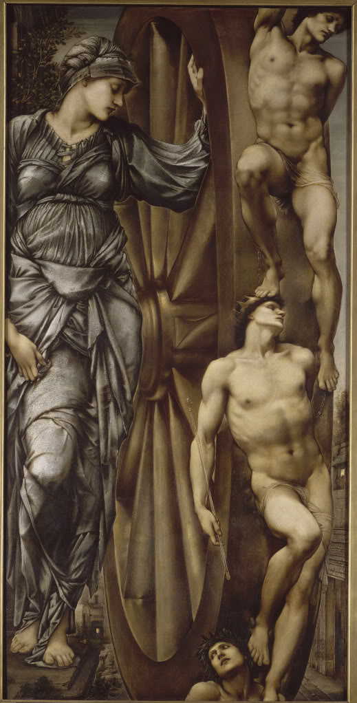 """The Wheel of Fortune"" Painting by Edward Burne-Jones Image in the Public Domain"