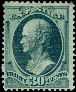 1873 Alexander Hamilton 30c gray black