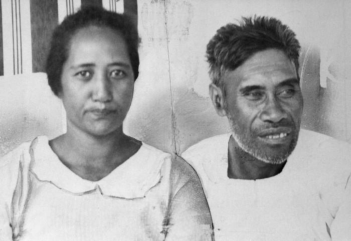 "Benehakaka ""Ben"" Kanahele and his wife, Kealoha ""Ella"" Kanahele,"