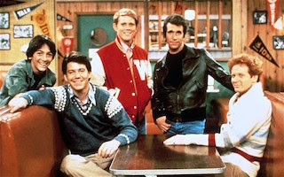 Happy Days, the young male leads from the 70s TV show
