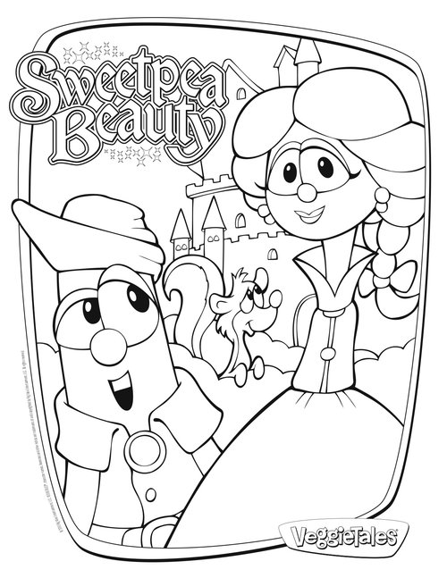 printable veggie tales coloring pages | Veggie Tales Coloring Pages For Kids >> Disney Coloring Pages
