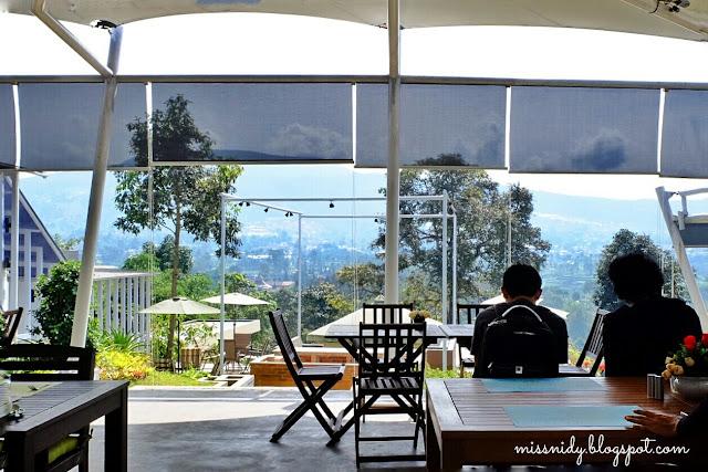 Indriya restaurant dengan view cantik di lembang