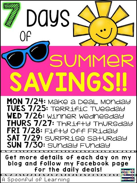 7 Days of Summer Savings 2017