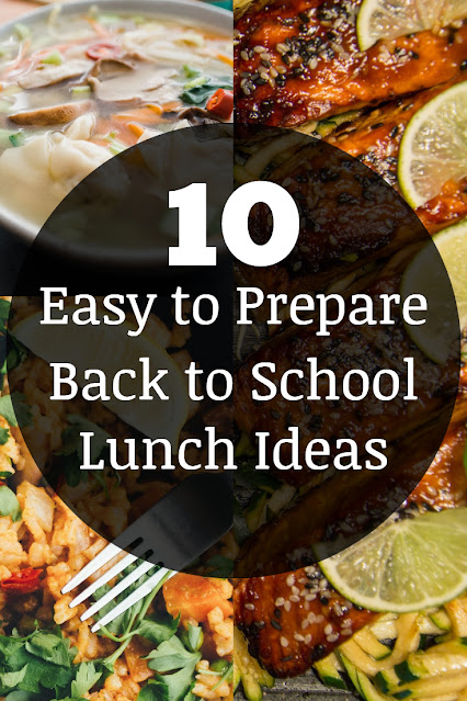 10 Easy to Prepare Back to School lunch ideas