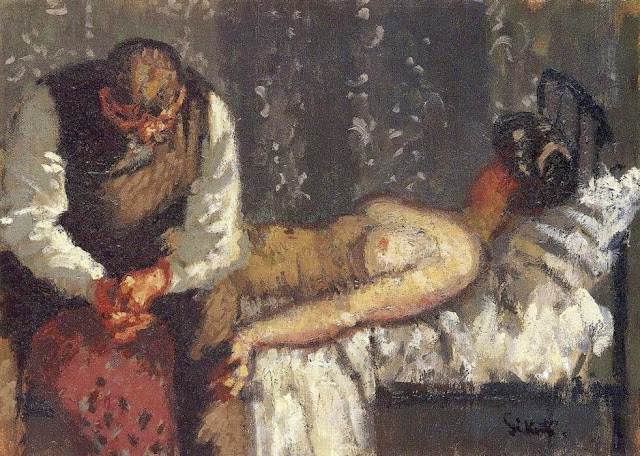 The Camden Town Murder o What Shall We Do for the Rent? -  Walter Sickert (1908)