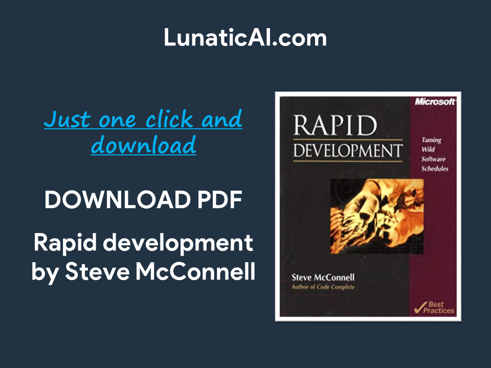 Rapid development Steve McConnell PDF Free Download