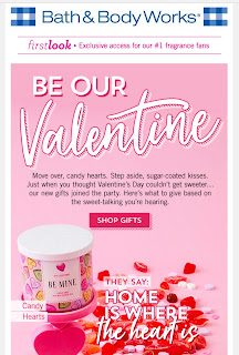 Bath & Body Works | Today's Email - First Look for Valentine's Day - January 22, 2020