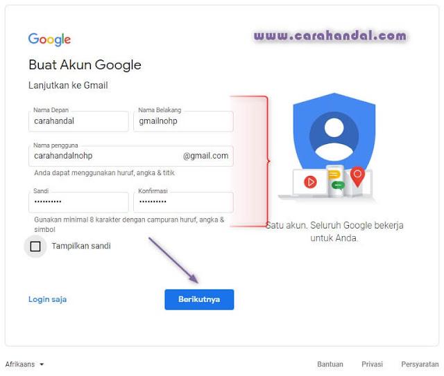 Cara Membuat Akun Gmail Tanpa Verifikasi No Hp di Pc