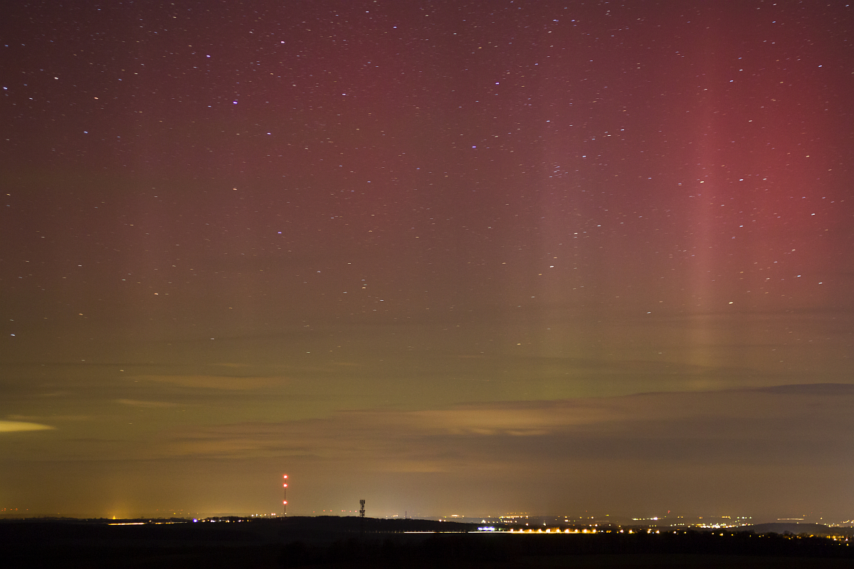 Zorza polarna sfotografowana 07.03.2016 r. - Credits: Heiko Ulbricht - Saksonia, Niemcy