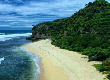 Pesona Keindahan Wisata Pantai Sanglen Di Tanjungsari Gunung Kidul Yogyakarta Ihategreenjello