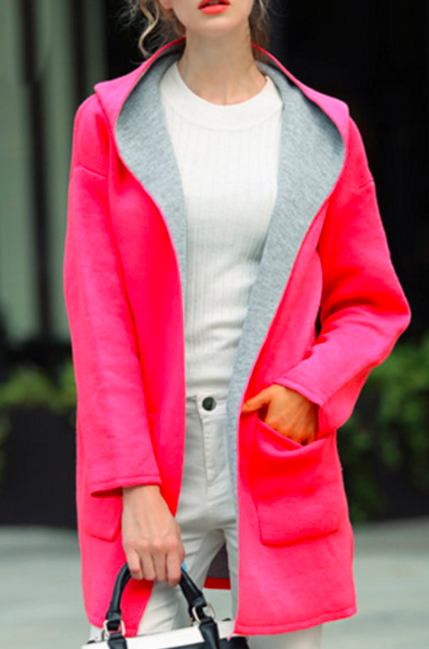 Pink coat for girls in winter