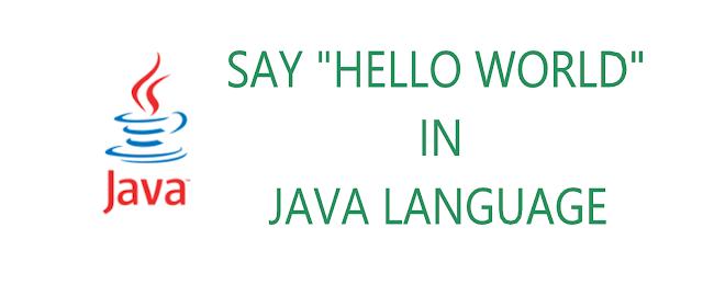 java program for hello world