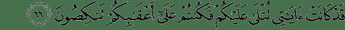 Surat Al Mu'minun ayat 66