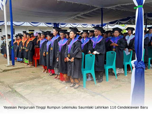 Yayasan Perguruan Tinggi Rumpun Lelemuku Saumlaki Lahirkan 110 Cendekiawan Baru