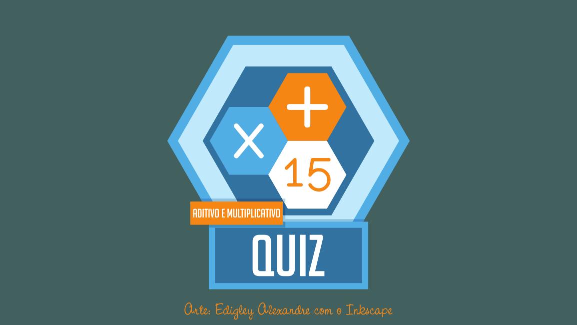 Quiz matemático 15 - Princípios Aditivo e Multiplicativo em uma equação