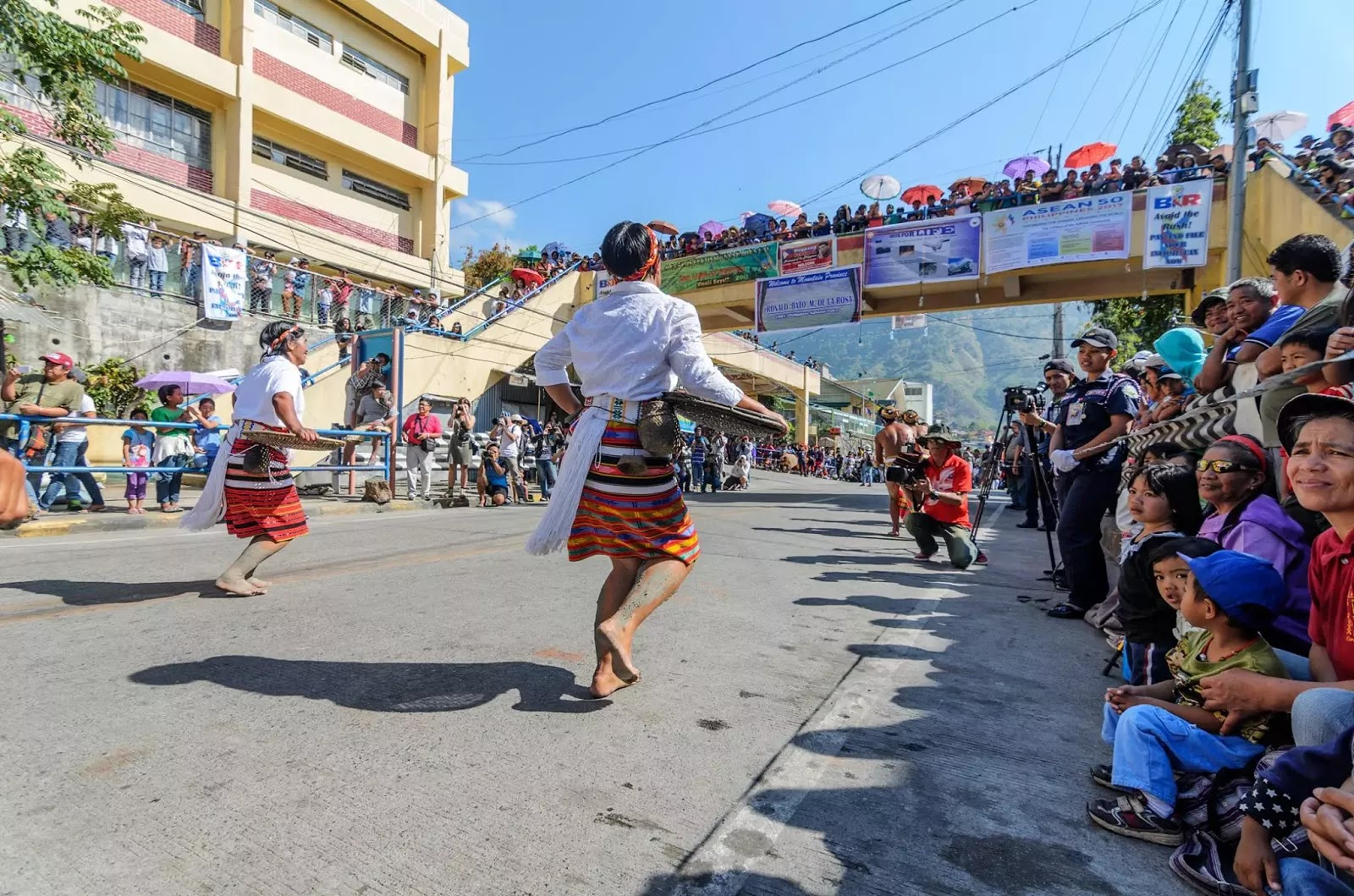 Bontoc Mountain Province 13th lang-Ay Festival Street Dancing in the Streets Nearing the Finish