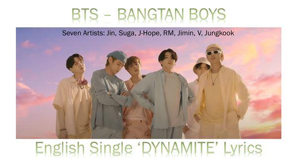 BTS - Bangtan Boys - Song - DYNAMITE Lyrics