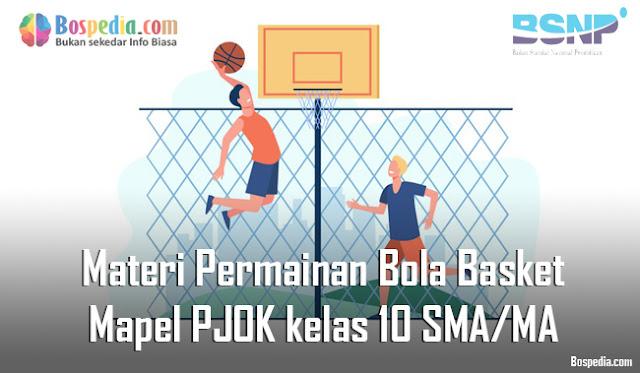 Materi Permainan Bola Basket Mapel PJOK kelas 10 SMA/MA