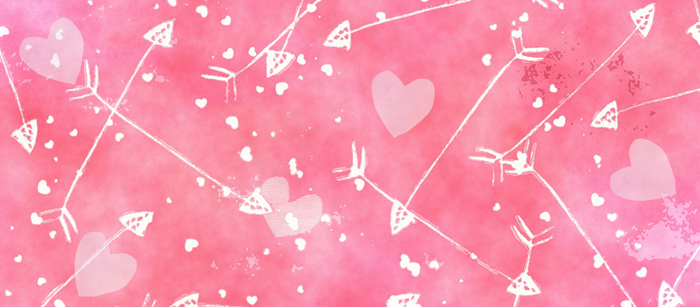 Hearts and Arrows Valentine Facebook Cover