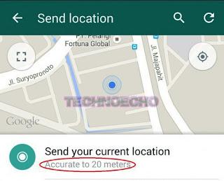 cara mengirim lokasi via whatsapp android