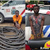 An Armed robber and Cable thief were arrested by the police in Lagos(Western part of Nigeria)