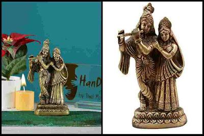 Brass Radha Krishna Pair Statue