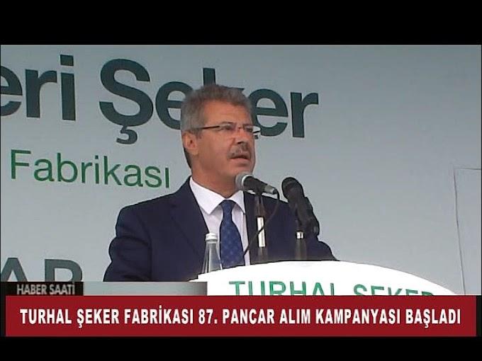 Turhal Şeker Fabrikası'nda 87. pancar alım kampanyası düzenlenen törenle başladı.