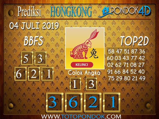 Prediksi Togel HONGKONG PONDOK4D 04 JULI  2019
