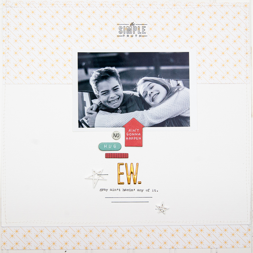 12x12 Sibling Scrapbook Page - Maggie Massey