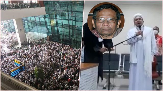 Habib Rizieq: Ledakan Massa Penjemput Saya di Bandara Akibat Pernyataan Mahfud!