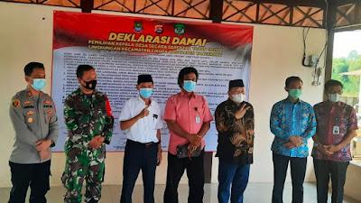 22 Calon Kades di Kecamatan Cikupa Gelar Deklarasi Damai