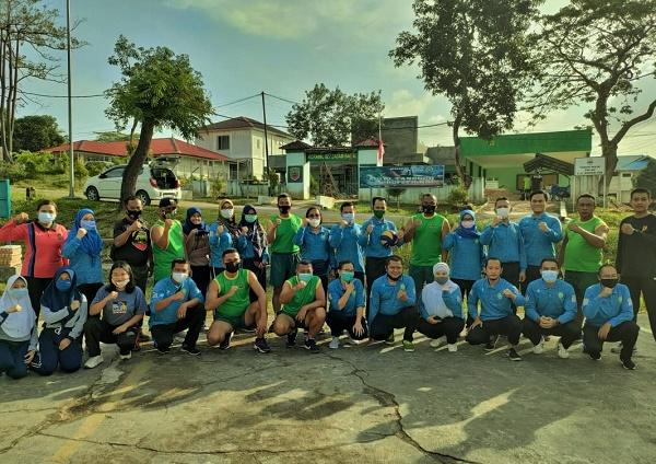 Koramil 02/BB dan PN Agama Batam Olahraga Bersama, Meningkatkan Imun di Masa Pandemi