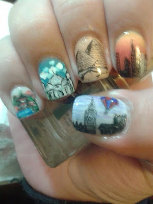 around the world in 80 days nail art