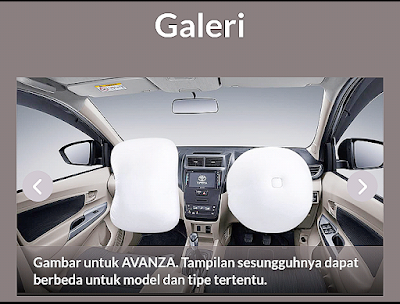 Info detail lain tentang Toyota Avanza di web Auto2000