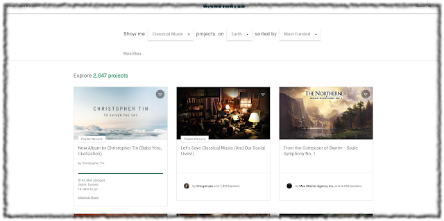 Screenshot of Kickstarter