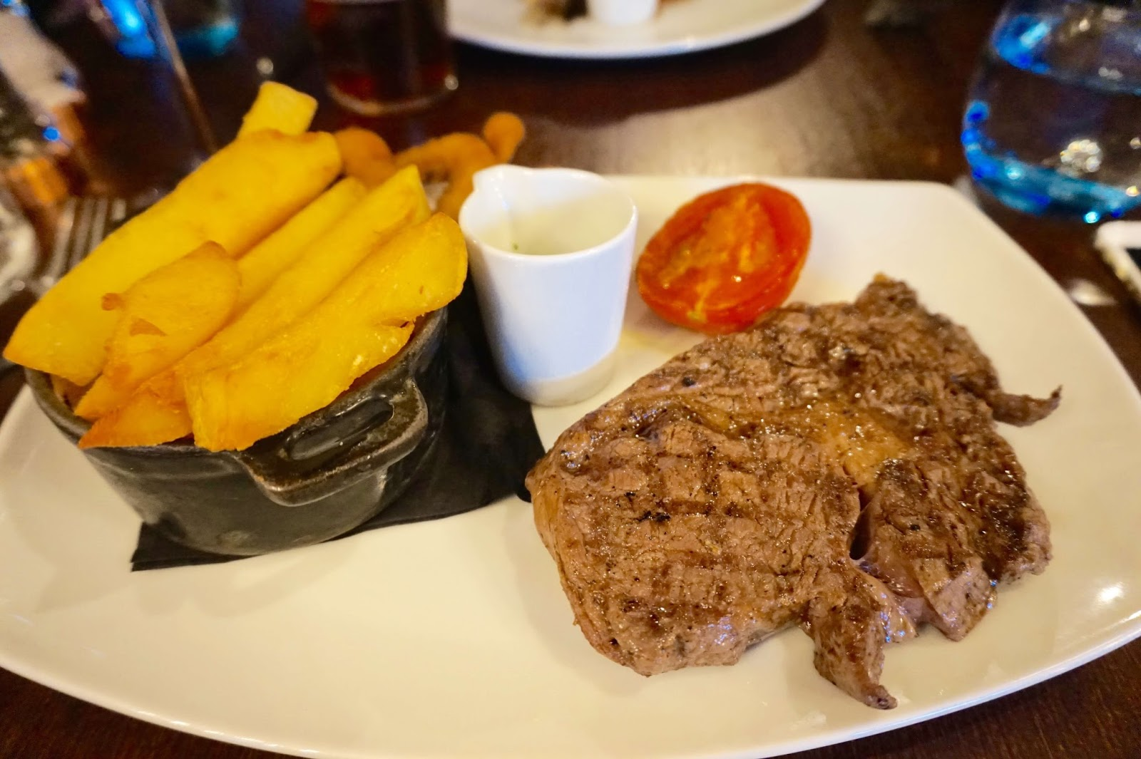 steak and chips at the talbot
