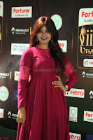 Monal Gajjar in Maroon Gown Stunning Cute Beauty at IIFA Utsavam Awards 2017 042.JPG