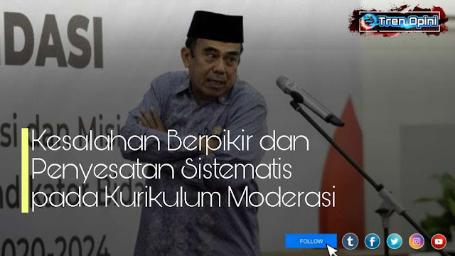 Menteri Agama (Menag) Fachrul Razi yang sudah menghapus konten-konten terkait ajaran radikal dalam buku pelajaran agama Islam sebagai bagian dari program penguatan moderasi beragama.