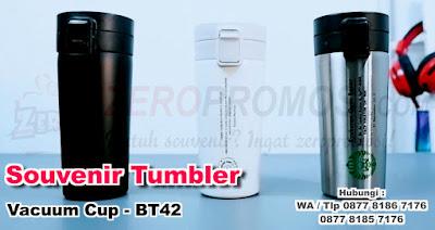 Souvenir Tumbler Vacuum Cup - BT42, Jual Tumbler stainless BT-42 custom logo untuk promosi, tumbler promosi, vacuum tumbler, tumbler custom, barang promosi, zeropromosi
