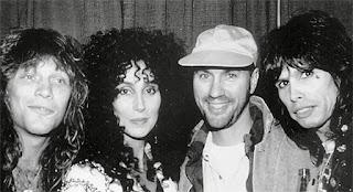 Jon Bon Jovi, Cher, Desmond Child y Steven Tyler