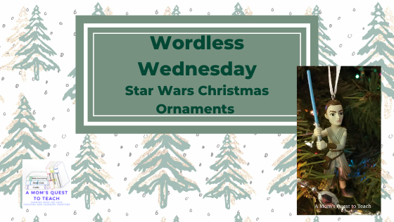 Text: Wordless Wednesday: Star Wars Christmas Ornaments