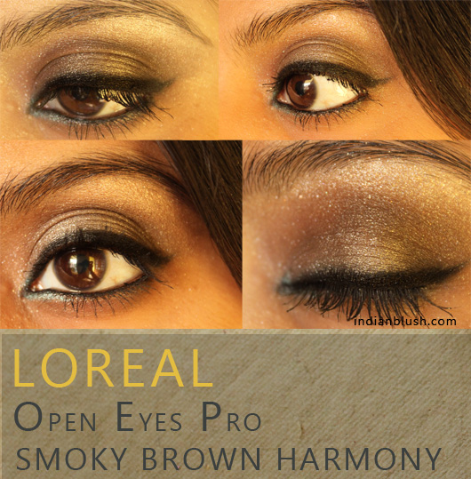 L'Oreal Open Eyes Pro Eyeshadow 08 Smoky Brown Harmony Review and Swatches